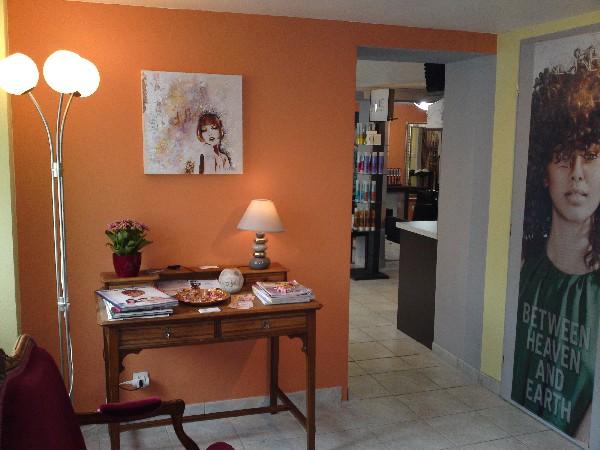 Acceuil, &agrave; l&#039;Atelier de coiffure, la d&eacute;coration<br /> change en fonction des tableaux sur les murs<br /> ou sur les cimaises du salon de coiffure, les œuvres originales sont r&eacute;alis&eacute;es par les artistes locaux qui les mettent &agrave; disposition, vous pouvez les acqu&eacute;rir!